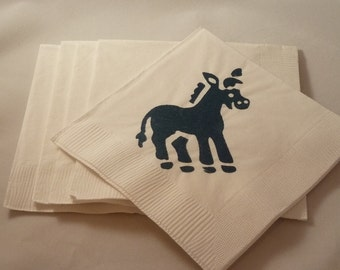 Blue Donkey Paper Cocktail/ Lunch/ Dinner Napkins