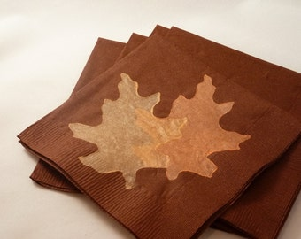 Maple Leaf Paper Cocktal/ Luncheon/ Dinner Napkins- Fall - Thanksgiving