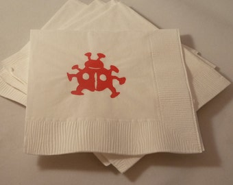 Red Lady Bug Paper Cocktail/ Lunch/ Dinner Napkins