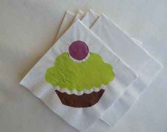 Multi Colored Cupcake Paper Cocktail/ Luncheon/ Dinner Napkins