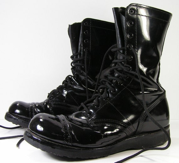 Black Military Combat Boots Cr Boot