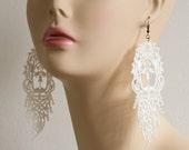 Romantic Lace Earrings - Orabella in Ivory