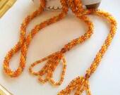 Handmade Czech Glass  Rope Necklace or Belt