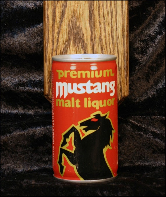 Premium Mustang Malt Liquor Wall Mounted Bottle By Handysam