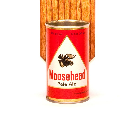 Wall Mount Bottle Opener With Vintage Moosehead Beer By