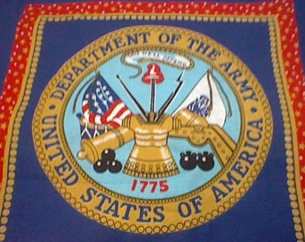 Blue United States Army Panel