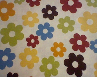 Brother and Sister Cream Flower material - 1 yard piece