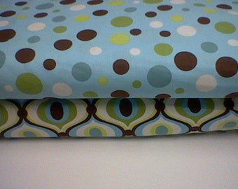 Michael Miller Lolli Dot in Blue - 1 yard piece (top fabric only)