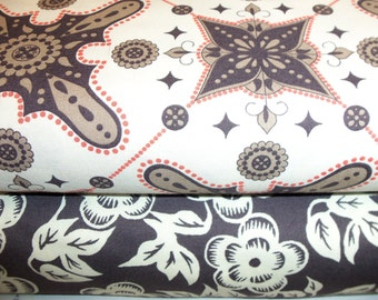 SALE-Ty Pennington Impressions by Free Spirit Fabric - Asian Floral and Moorish 1/2 yard ea.