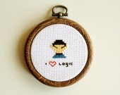 I Love Logic - Mini Cross Stitch