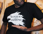 Winter Wolf.  Unisex/Men American Apparel sizes small, medium, large, XL and 2XL in BLACK.  Flaunt your fandom!