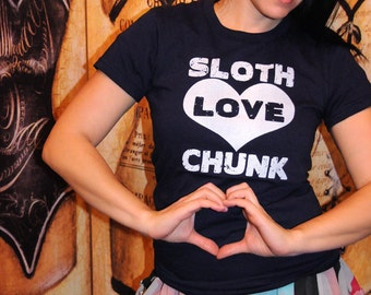 SALE!! Sloth LOVE Chunk.  Women's fitted American Apparel in small