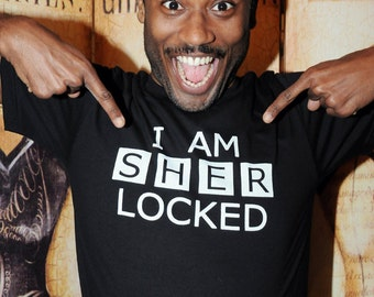SHER-Locked.  Unisex/Men American Apparel sizes s-xl