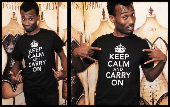 SALE!!  Keep Calm and Carry On. Unisex/Men American Apparel sizes small, medium, large, xl and 2xl