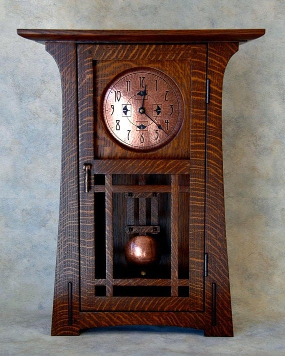 Items Similar To Arts And Crafts Clock On Etsy