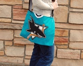 San Jose Sharks NHL Upcycled Hockey Jersey Purse Ready to Ship