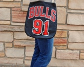 Chicago Bulls Dennis Rodman Upcycled Jersey Purse Ready to Ship