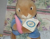 Peter Rabbit Ready for Easter at your house  gift for child collectable vintage bunny toy