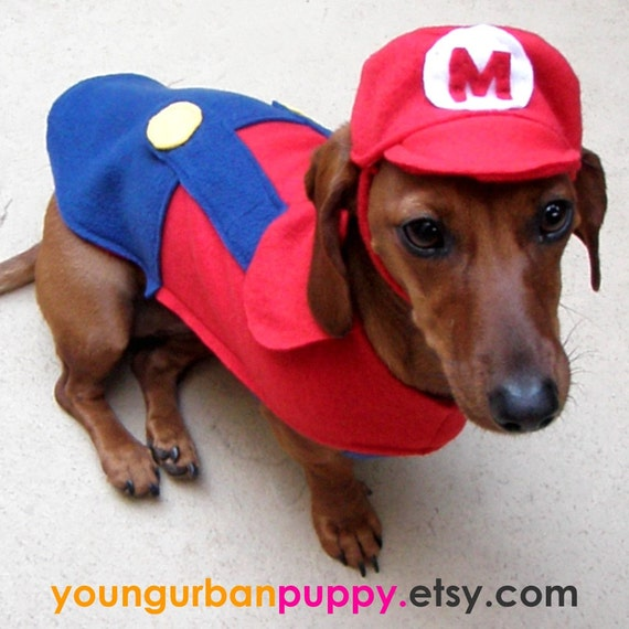 MARIO NINTENDO outfit for Dogs
