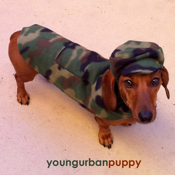 SALE Military Camo Pocket Walking Jacket for Dogs
