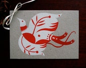 Folk Bird Poscard