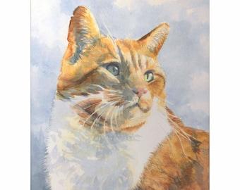 Custom Pet Portrait Painting - Cats