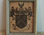 Old Framed Picture  of John Mead Crest