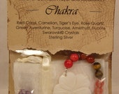 Chakra Comfort Beads with White Flower of Peace