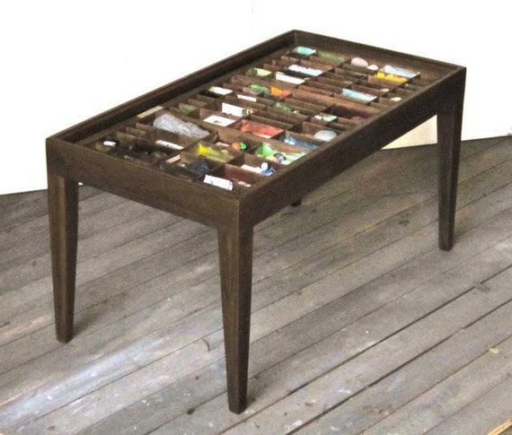 collectible display coffee table 2
