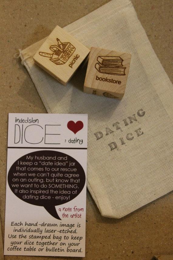 Dating Dice - Laser cut activity dice