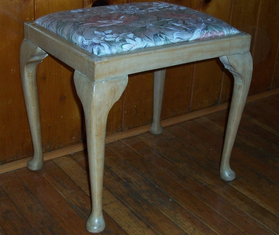 Vintage Shabby Chic Bench Footstool.....RESERVED FOR CHRIS