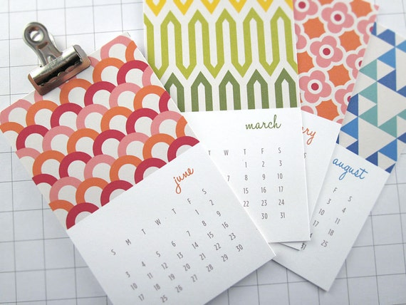 Modern Patterns - Series I - Mini 2013 Calendar
