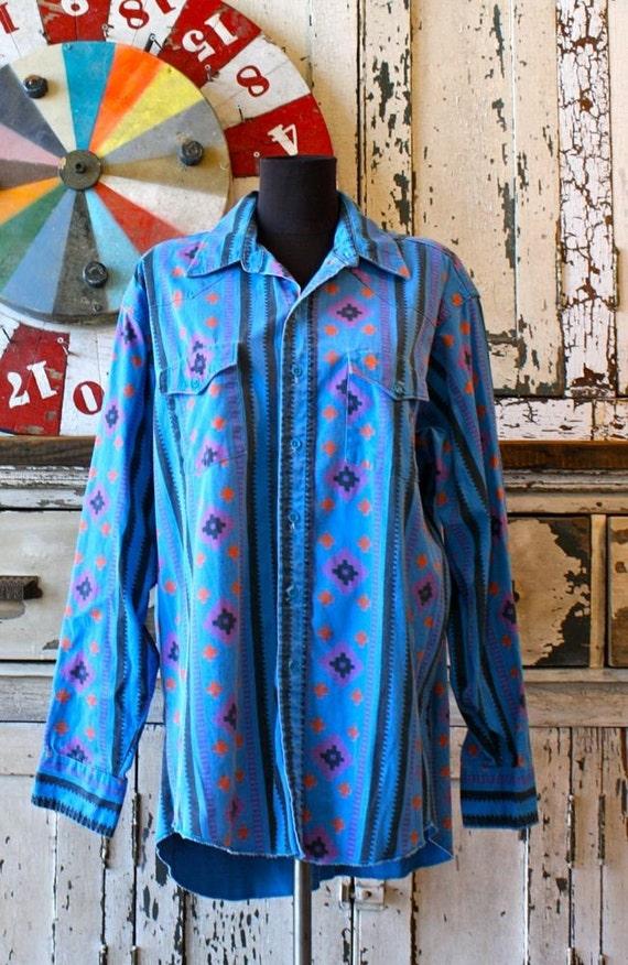 Garth Brooks Style Wrangler Shirt Size Large