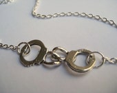 Custom Handcuff Charm Necklace - Reserved for Patti