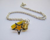 Star Charm Necklace and it was all yellow