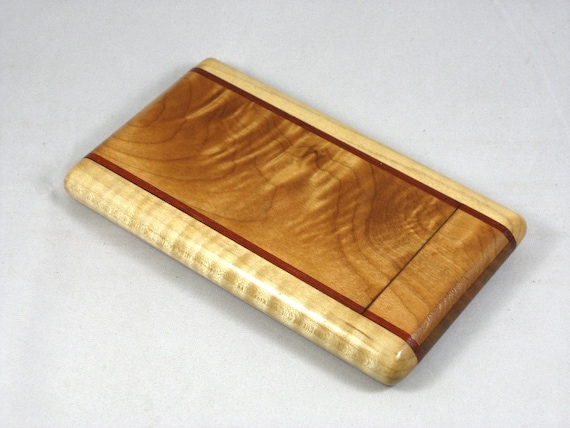 Business Card Case Quilted Maple with Curly Maple