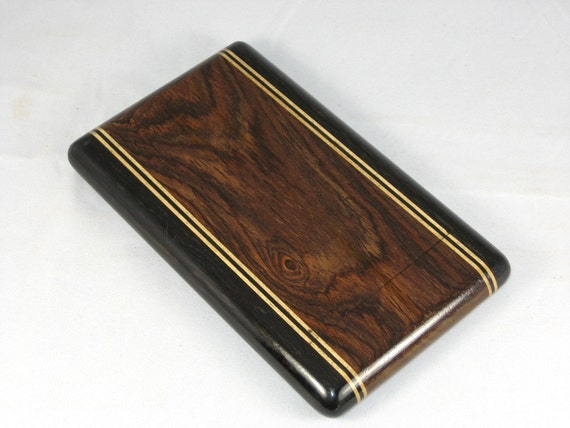Business Card Case - Cocobolo with Gabon Ebony