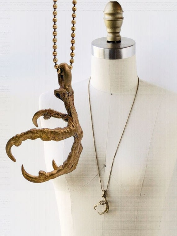 SALE Crow Bird / Magpie Bird Claw Necklace ONLY 1 LEFT On Sale