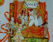 Instant Download Halloween Spook Show Theater Puppet Digital Collage Sheet Model Toy Paper