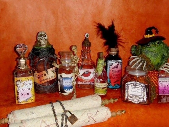 Halloween Potion Poison Bottle Label Lable Lables Labels Digital Collage Sheet Download