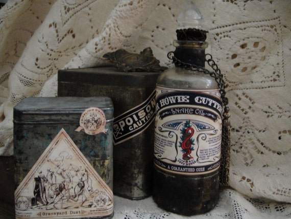 Wicked Halloween Potion Poison Bottle Lable Label  Lables Labels Digital Collage Sheet Download