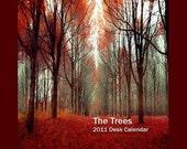 The Trees - 2011 Fine Art Calendar - A great stocking stuffer for your favorite art lover - under 15 dollars - 5x7