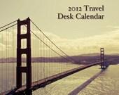 2012 Calendar, 4x6 2012 Mini Calendar, Travel Photography Calendar - Calendar Sale Clearance Oht
