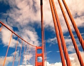 San Francisco Print, Blue, Orange, Golden Gate Bridge, Abstract, Modern, Big Red, California Print, Travel Photography