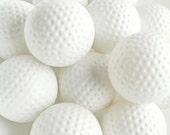 Golf balls, Tee time, art for a golfer, sports, outdoors, play, games, white minimalist, summer man cave art