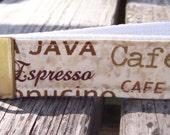 SALE - Coffee Words - Key Chain Wristlet