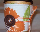Orange Blosson - Eco Friendly Coffee Cozy - for Penneymiracles