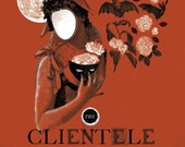 The Clientele Poster - Tangy Orange