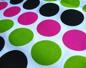 Bright Polka Dots Candy Home Decor Weight Fabric - 2.5 yards