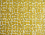 Pumpkin Yellow White Thread Pattern Cotton Fabric  1 Yard and 1 fat quarter
